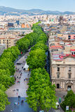 Las Ramblas in Barcelona Stock Photo