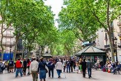 Las Ramblas, Barcelona Stock Images