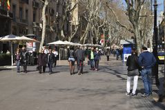 Las Ramblas. Barcelona. Spain Royalty Free Stock Photos