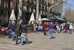 Las Ramblas. Barcelona. Spain Royalty Free Stock Photography
