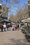 Las Ramblas. Barcelona. Spain Stock Image