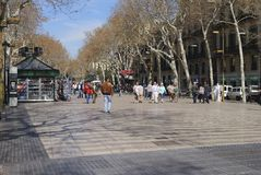 Las Ramblas. Barcelona. Spain Stock Photography