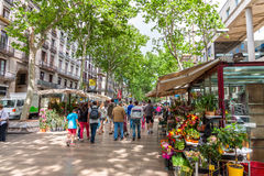 Las Ramblas, Barcelone Photos libres de droits