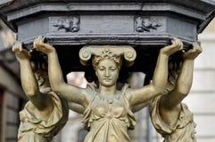 Las Ramblas-Brunnen, Barcelona Lizenzfreie Stockbilder
