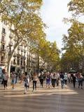 Las Ramblas de Barcelona, España Imagenes de archivo