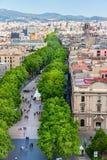 Las Ramblas en Barcelona foto de archivo