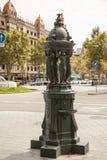 Las Ramblas Fountain, Barcelona Stock Image