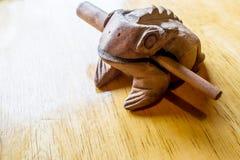 Las ranas de madera de Tailandia Fotografía de archivo