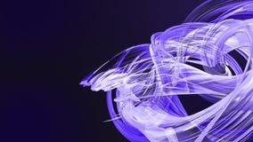 Las rayas azules coloridas tuercen en una formación circular, movimiento en un círculo El fondo creativo inconsútil, colocó 3d li almacen de metraje de vídeo