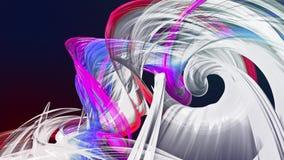 Las rayas coloridas del arco iris tuercen en una formación circular, movimiento en un círculo El fondo creativo inconsútil, coloc metrajes