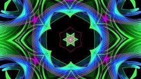 Las rayas coloridas del arco iris tuercen en una formación circular, movimiento en un círculo El fondo creativo inconsútil, coloc almacen de metraje de vídeo