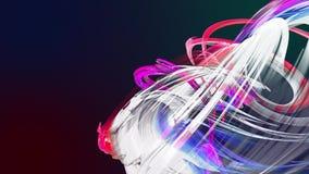Las rayas coloridas del arco iris tuercen en una formación circular, movimiento en un círculo El fondo creativo inconsútil, coloc almacen de video
