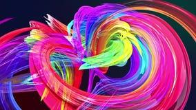 Las rayas coloridas tuercen en una formaci?n circular Multicolor stock de ilustración