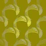 Las rayas curvadas inconsútiles modelan gris verde verde oliva amarillo diagonalmente stock de ilustración