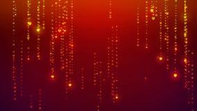 Las rayas de la partícula del corazón que brillan que caen, lloviendo partículas del brillo que brillan intensamente, indican el