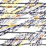 Las rayas modernas del leopardo de la impresi?n ennegrecen blanco ilustración del vector
