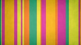 Las rayas multicoloras Paperlike 4k 60fps texturizaron el lazo del vídeo del fondo del movimiento de las barras de colores de la  stock de ilustración
