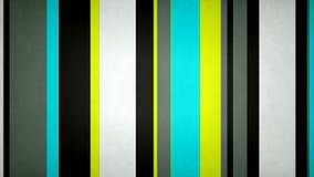Las rayas multicoloras Paperlike 4k 60fps texturizaron el lazo video del fondo de las barras de neón del contraste ilustración del vector