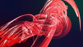 Las rayas rojas coloridas tuercen en una formación circular, movimiento en un círculo El fondo creativo inconsútil, colocó 3d lis almacen de video