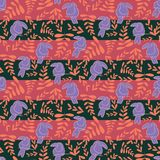 Las rayas rosadas del tucán repiten diseño del modelo stock de ilustración