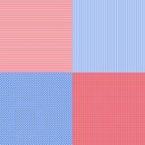 Las rayas simples azules y rojas resumen el modelo inconsútil del vector, GE Imágenes de archivo libres de regalías