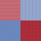 Las rayas simples azules y rojas resumen el modelo inconsútil del vector, GE Foto de archivo libre de regalías