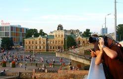 Las razas altas Riga 2013 de las naves Fotos de archivo