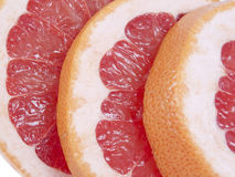 Rebanadas del pomelo Foto de archivo