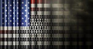 Las relaciones raciales Estados Unidos señalan por medio de una bandera Fotos de archivo
