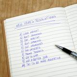 Las resoluciones del Año Nuevo Foto de archivo