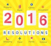 Las 2016 resoluciones del Año Nuevo Imagen de archivo libre de regalías