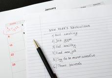 Las resoluciones del Año Nuevo enumeraron Imágenes de archivo libres de regalías