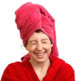 Las risas de la muchacha Imagen de archivo