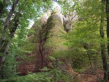 Las rocas de Belogradchik y el x28; Bulgaria& x29; Imagen de archivo libre de regalías