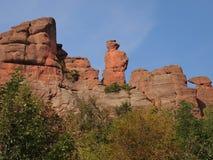 Las rocas de Belogradchik y el x28; Bulgaria& x29; Imagen de archivo