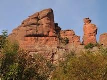 Las rocas de Belogradchik y el x28; Bulgaria& x29; Foto de archivo