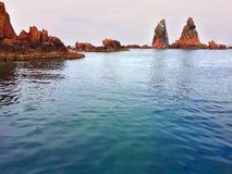 Las rocas del mar Imágenes de archivo libres de regalías