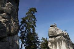 Las rocas del pach-Teplice del ¡de AdrÅ Fotografía de archivo