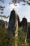 Las rocas del pach-Teplice del ¡de AdrÅ Imagen de archivo