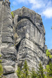 Las rocas en el parque nacional de Adrspach-Teplice oscilan - la República Checa Imagenes de archivo