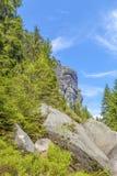 Las rocas en el parque nacional de Adrspach-Teplice oscilan - la República Checa Foto de archivo libre de regalías