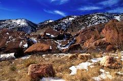 Las rocas rojas estacionan Colorado Imagenes de archivo