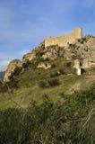 Las Rojas slott, La Bureba, Burgos landskap, Castilla-Leon, Spai Arkivbild