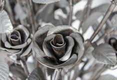 Las rosas de las flores hechas del hierro para el amor son duras Fotografía de archivo libre de regalías