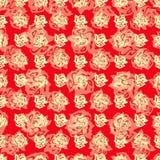 Las rosas en un ejemplo rojo del vector del extracto del fondo wallpaper Fotos de archivo libres de regalías