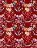 Las rosas románticas arquean el modelo inconsútil del vector floral libre illustration