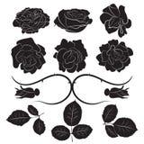 Las rosas vector, aislado Foto de archivo libre de regalías