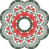 Las rosas y el cordón botánicos de la flor del verano circundan el modelo del marco Elegancia lamentable del estilo, boho, Proven libre illustration