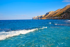 Las Rotas beach in Denia Alicante Stock Photos