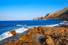 Las Rotas beach in Denia Alicante Royalty Free Stock Photography